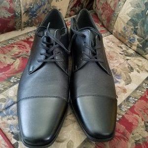 Calvin klein Men's Black Bachman Leather Lace-up S